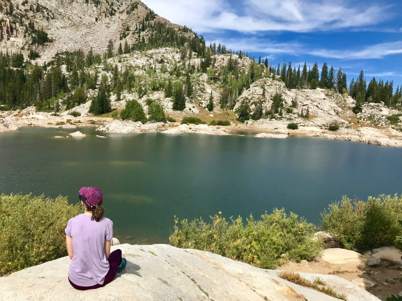 Views at Lake Mary Hike in Salt Lake