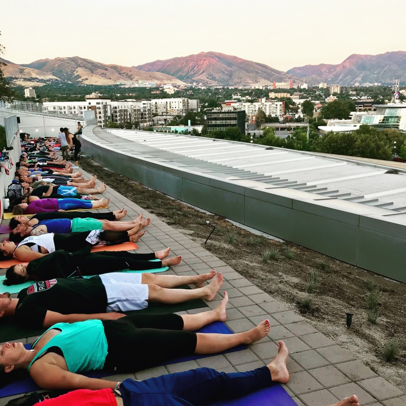 Yoga with a view in Salt Lake City, Utah