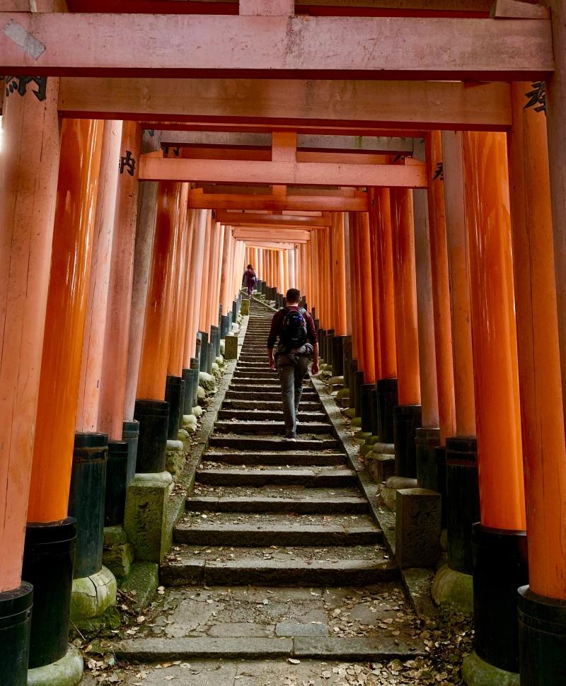 Fushimi Inari Hike Orange Gates