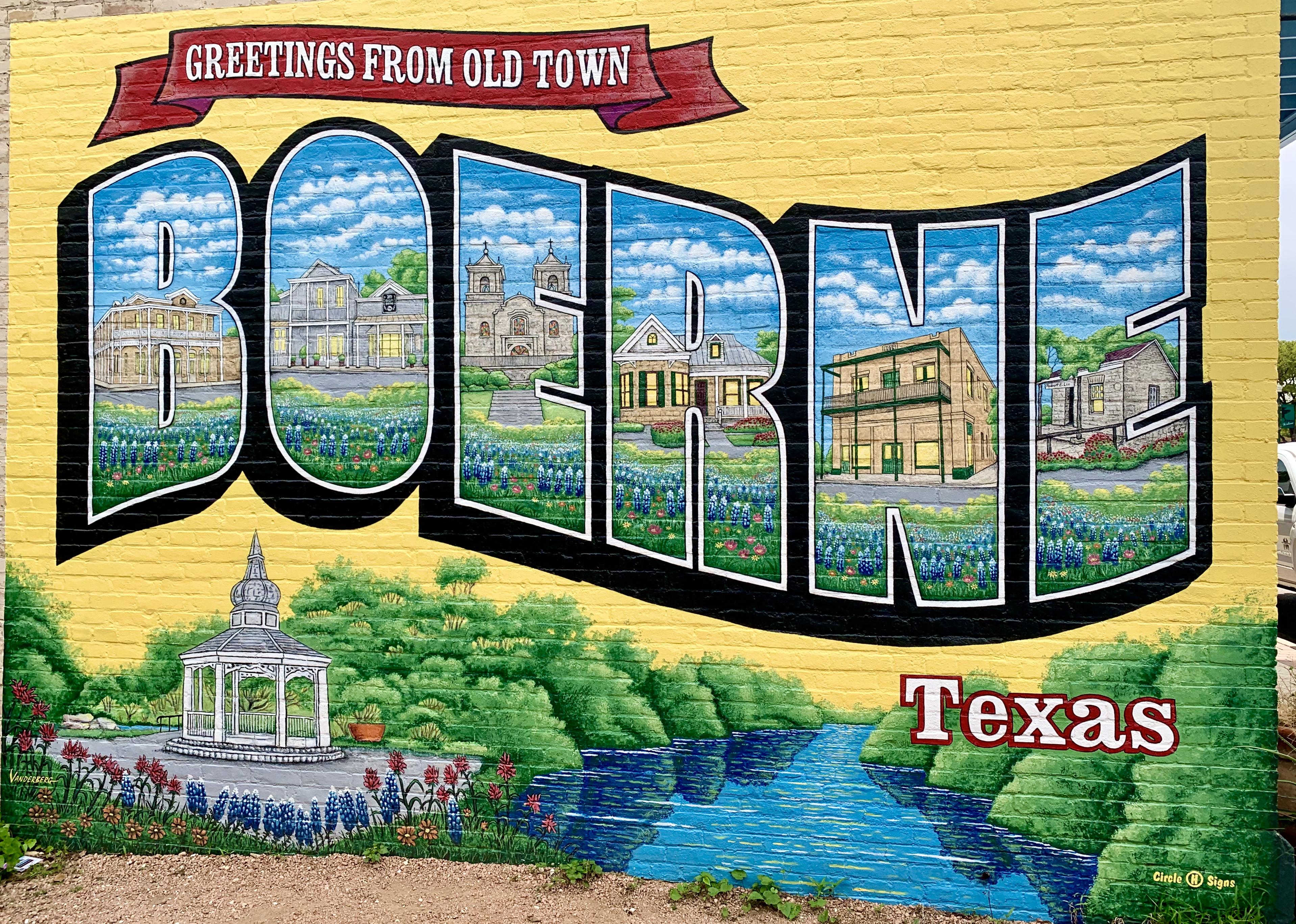 Boerne Texas mural