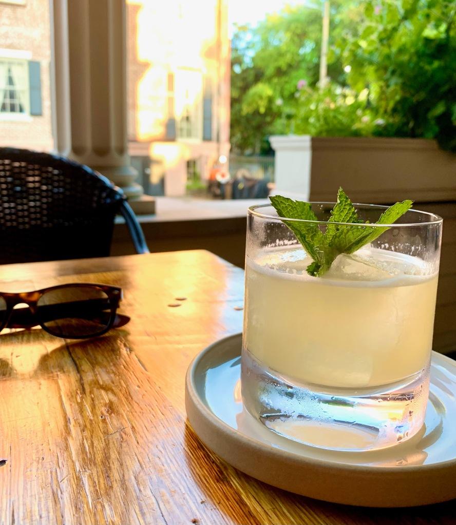 Husk Savannah farm to table lemon cocktail